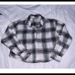 NEW XS PINK Cropped Flannel